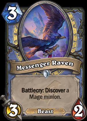 Messenger Raven Card