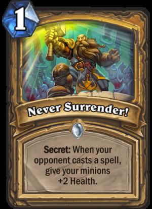 Never Surrender! Card