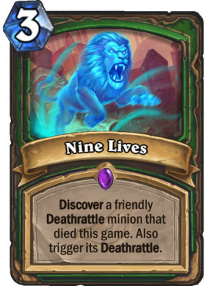 Nine Lives Card