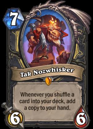 Tak Nozwhisker Card