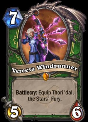 Vereesa Windrunner Card