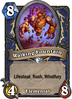 Walking Fountain Card