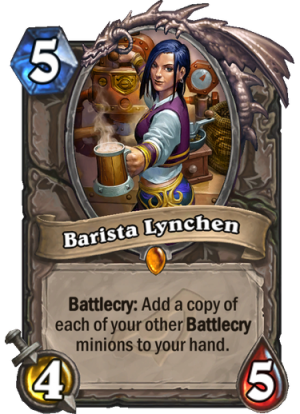 Barista Lynchen Card