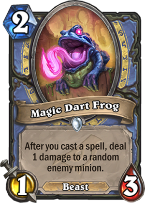 Magic Dart Frog Card