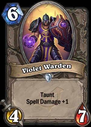 Violet Warden Card