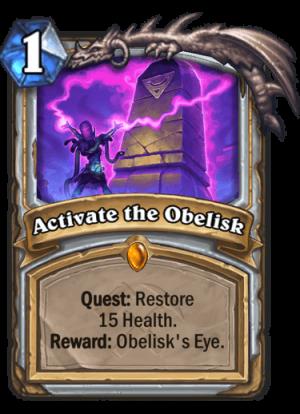 Activate the Obelisk Card