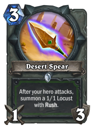 Desert Spear Card