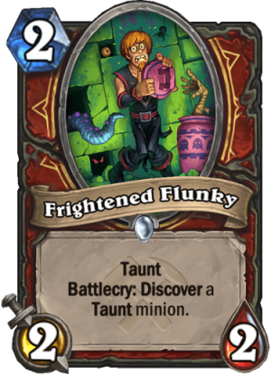 Frightened Flunky Card
