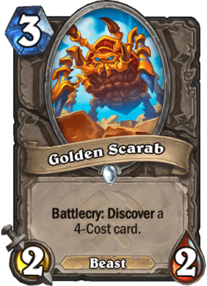 Golden Scarab Card