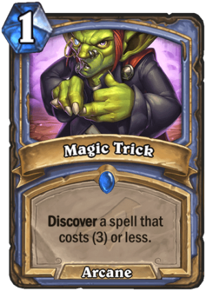 Magic Trick Card