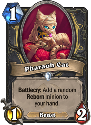 Pharaoh Cat Card