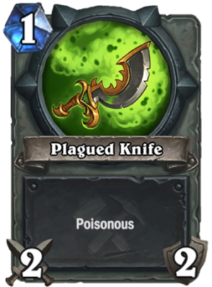 Plagued Knife Card