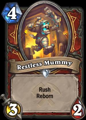 Restless Mummy Card