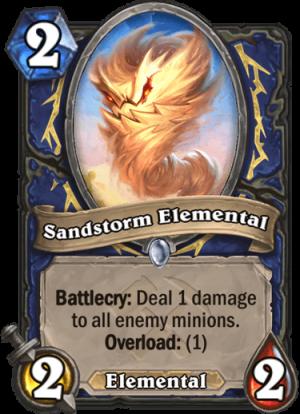 Sandstorm Elemental Card