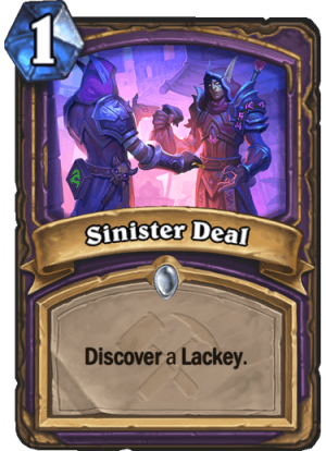 Sinister Deal Card