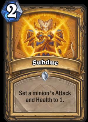Subdue Card