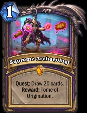 Supreme Archaeology Card