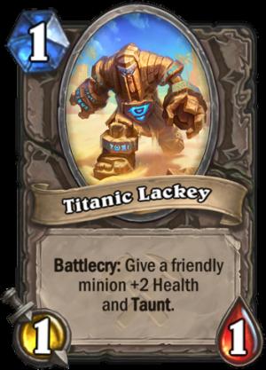 Titanic Lackey Card