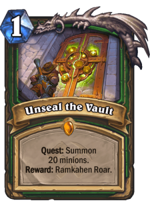 Unseal the Vault Card