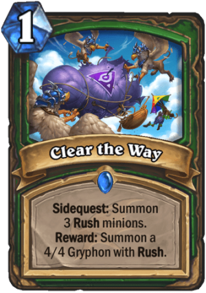 Clear the Way Card