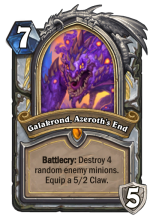 Galakrond, Azeroth's End (Priest) Card