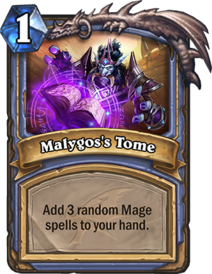 Malygos's Tome Card