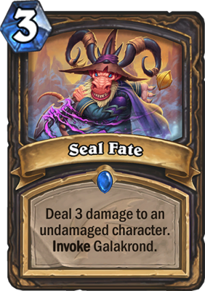 Seal Fate Card