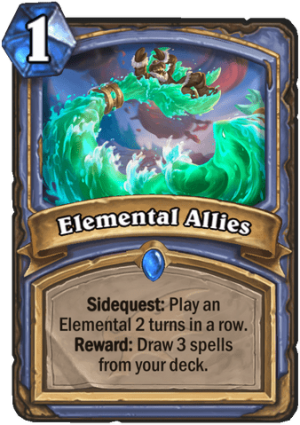 Elemental Allies Card