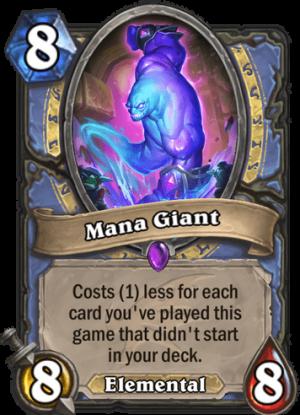 Mana Giant Card