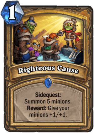 Righteous Cause Card