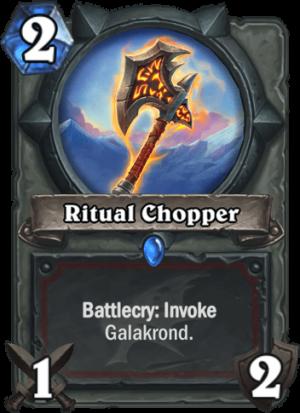Ritual Chopper Card