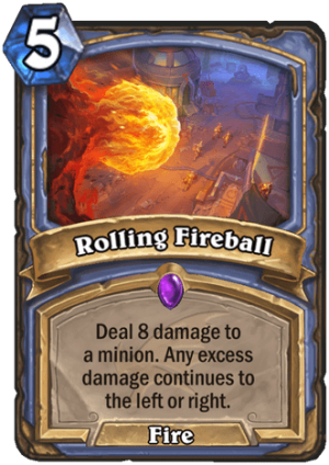 Rolling Fireball Card