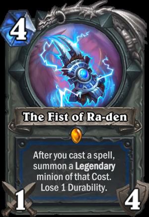 The Fist of Ra-Den Card