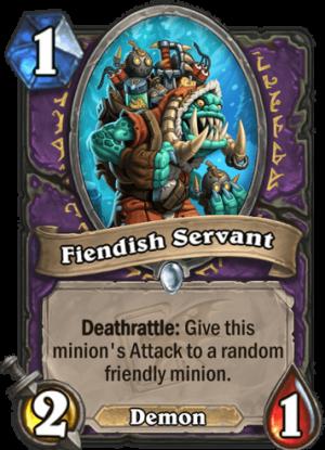 Fiendish Servant Card