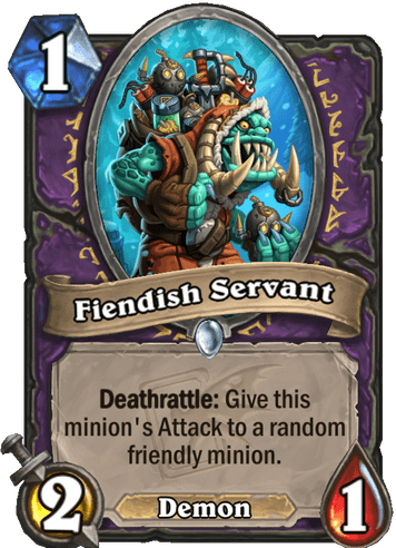 Fiendish Servant Card!