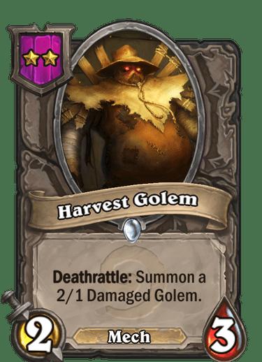 Harvest Golem Card!