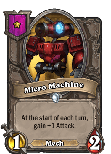 Micro Machine Card!