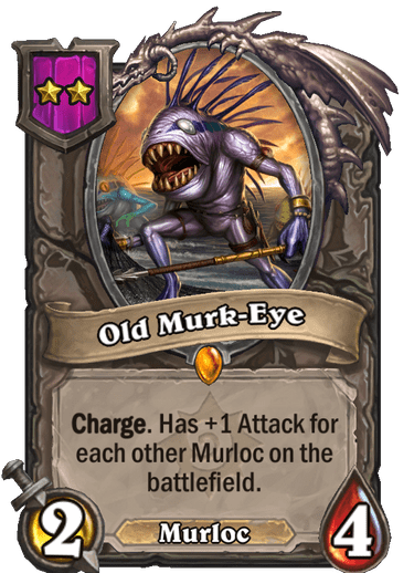 Old Murk-Eye Card!