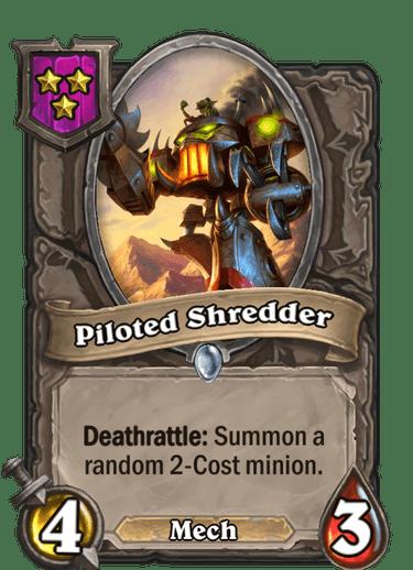 Piloted Shredder Card!