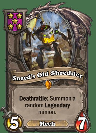 Sneed's Old Shredder Card!
