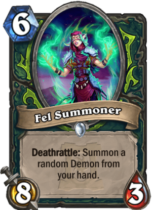 Fel Summoner Card