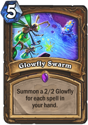 Glowfly Swarm Card