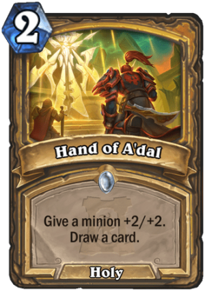 Hand of A'dal Card