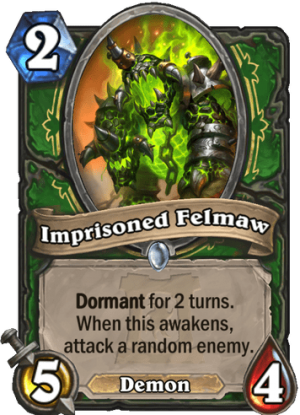 Imprisoned Felmaw Card