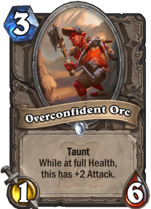Overconfident Orc Card