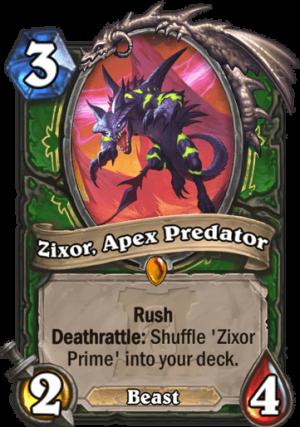 Zixor, Apex Predator Card