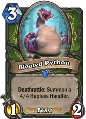 Bloated Python Card
