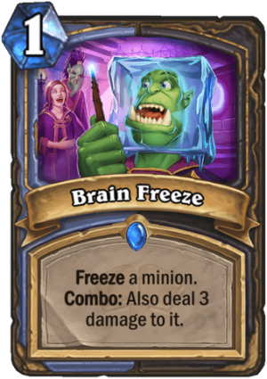 Brain Freeze Card