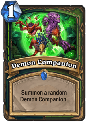 Demon Companion Card