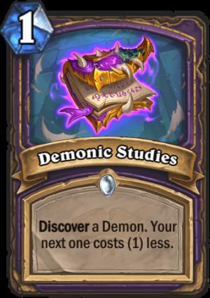 Demonic Studies Card